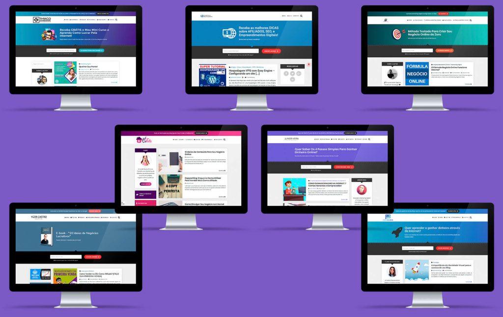 Executando em mais de 2300 sites