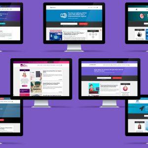 Executando em mais de 8000 sites